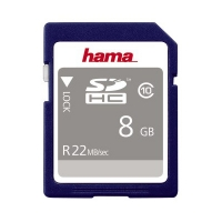 Hama SDHC Speicherkarte 22 MBs 8 GB HighSpeed Pro Gold Class 10