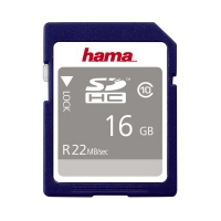 Hama SDHC Speicherkarte 22 MBs 16 GB HighSpeed Pro Gold Class 10