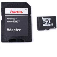 Hama microSDHC Memory Card 16GB HighSpeed Pro Class 10  inkl SD Adapter