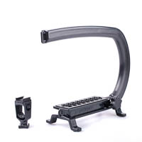 Cam Caddie Scorpion EX Video Handle incl. Accessory Clamp - for DSLR Mirrorless Camera and Camcorder