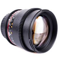 Walimex pro 85mm f15 VDLSR Video Lens for Canon EOS EF EFS