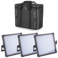 FV 3piece LED Studio Panel K4000S BiColor 2490 Lux with Carrying Case