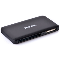 Hama USB 30 Multi Memory Card Reader Slim  Transfer Rate up to 5 Gbits black