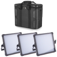 FV 3piece LED Studio Panel Z400S UltraColor BiColor 2490 Lux CRI 95 with Carrying Case