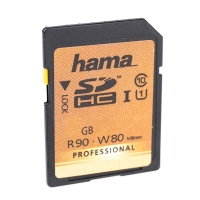 Hama Professional SDHC UHSI Memory Card 90MBs Class 10 8GB