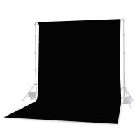 Photoflex Background Cloth 300 x 600 cm Muslin 160 gm2 Black