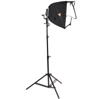 Photoflex Small LiteDome Deluxe Kit for Strobists  incl Softbox Flash Bracket for Shoemount Flash Swivel Head and Light Stand
