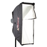 Photoflex HalfDome small Striplight Softbox for Studio Strobe Flash 89 x 25cm