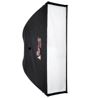 Photoflex HalfDome medium Striplight Softbox for Studio Strobe Flash 140 x 38cm