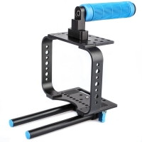 Quenox Camera Cage Rig mit Handgriff f�r Blackmagic Cinema Camera BMCC