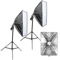 Quenox 2 Daylight Floor Lamps 60W 560W 9200 Lumen Softbox Energy Efficiency Class A for Photo  Video