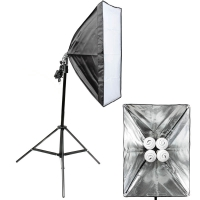 Quenox Daylight Floor Lamp 120W 520W 7600 Lumen Softbox Energy Efficiency Class A for Photo  Video