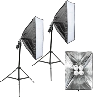 Quenox 2 Daylight Floor Lamps 120W 1040W 15200 Lumen Softbox Energy Efficiency Class A for Photo  Video