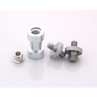 Threaded adapter set with spigot Reducer adapter and 14 to 38 screws