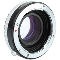 Quenox Focal Reducer Speed Booster Adapter Pentax K  Micro Four Thirds with aperture ring