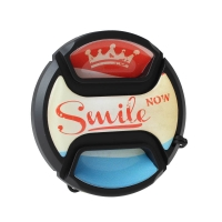 Kaiser MotivObjektivdeckel Smile Now 58 mm  mit Rastmechanik und Innengriff
