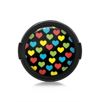 Paintcaps MotivObjektivdeckel Hearts 43 mm  mit Rastmechanik