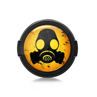 Paintcaps MotivObjektivdeckel Gas Mask 37 mm  mit Rastmechanik
