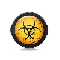 Paintcaps MotivObjektivdeckel Biohazard 46 mm  mit Rastmechanik