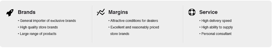 we offer excellent brands, attractive margins and an outstanding service